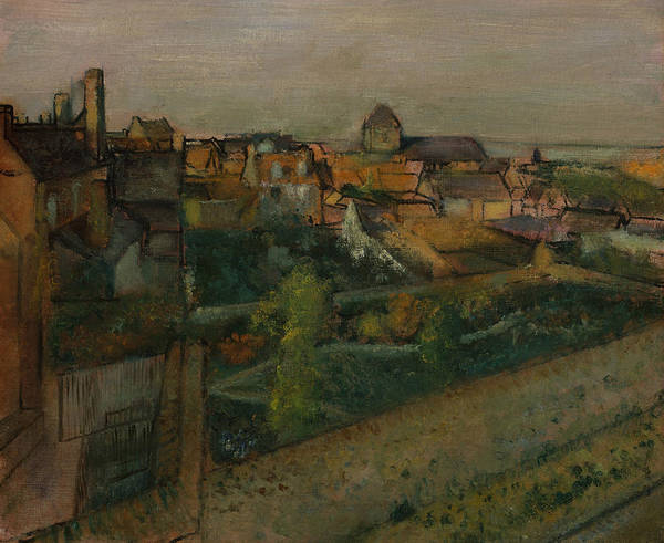 Painting - View Of Saint-valery-sur-somme by Edgar Degas