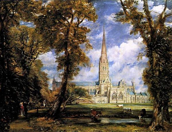 Painting - View Of Salisbury Cathdral by John Constable