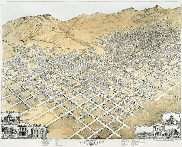 Photograph - View Of Salt Lake City, Utah by Granger