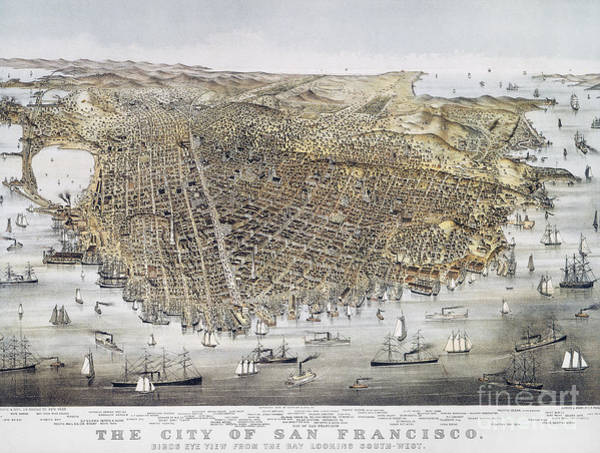 Photograph - View Of San Francisco, 1878 by Granger