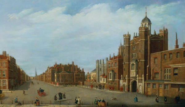 Tudor Photograph - View Of St. James's Palace And Pall Mal by William James