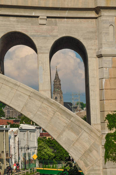 Wall Art - Photograph - View Of St Johns Through The Manayunk Bridge by Bill Cannon