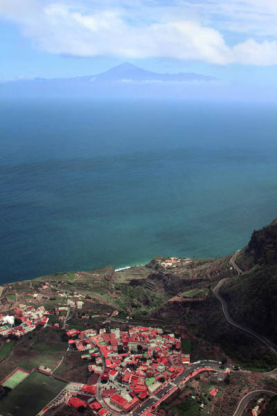 Canary Wall Art - Digital Art - View Of Teide From La Gomera by Cambion Art