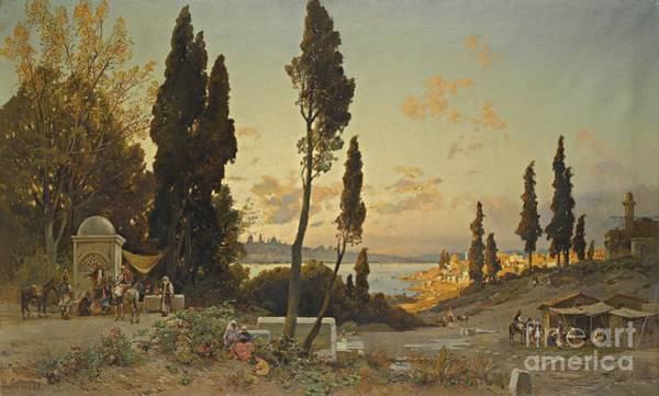 Painting - View Of The Bosphorus Constantinople by Celestial Images