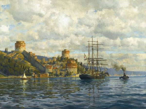 Painting - View Of The Bosphorus With Rumelihisari by Celestial Images