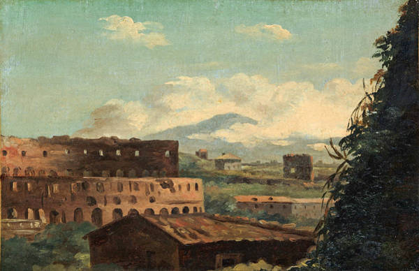 Wall Art - Painting - View Of The Colosseum. Rome by Pierre-Henri de Valenciennes