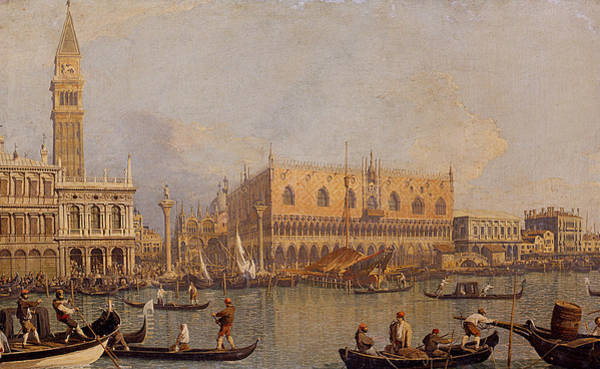 Painting - View Of The Ducal Palace In Venice by Canaletto