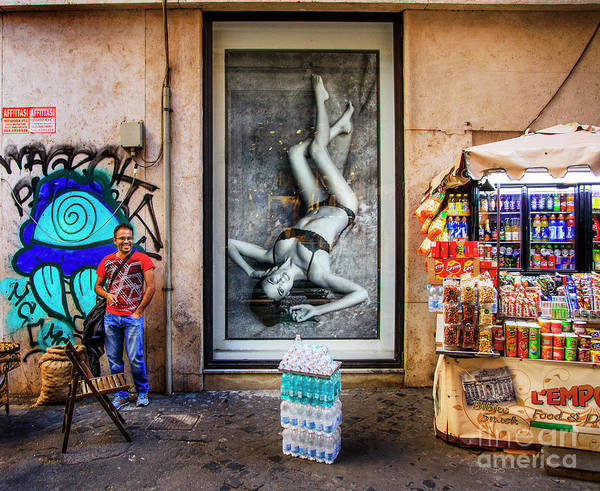Photograph - View Of The Food Cart Snack Man  by Craig J Satterlee