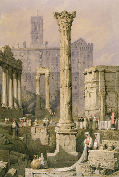 Roma Wall Art - Painting - View Of The Forum, Rome  by Samuel Prout
