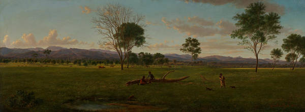 Aborigine Painting - View Of The Gippsland Alps, From Bushy Park On The River Avon  by Eugene von Guerard