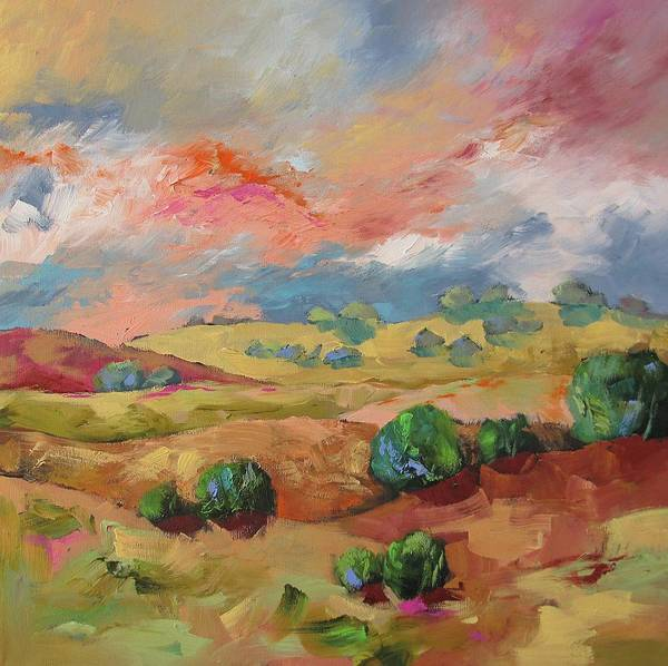 Fauve Painting - View Of The Heavens by Linda Monfort