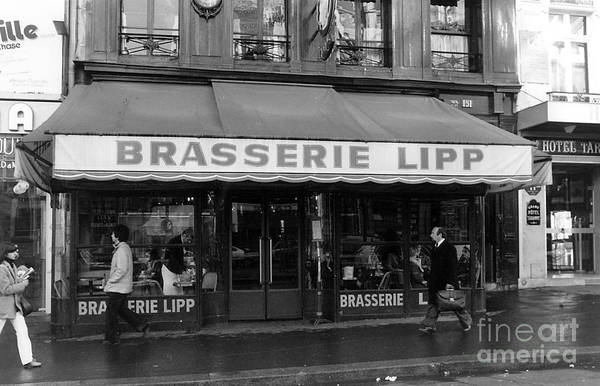 Brasserie Wall Art - Photograph - View Of The Lipp Restaurant In Saint Germain Des Pres In Paris On March 2, 1979 by French School