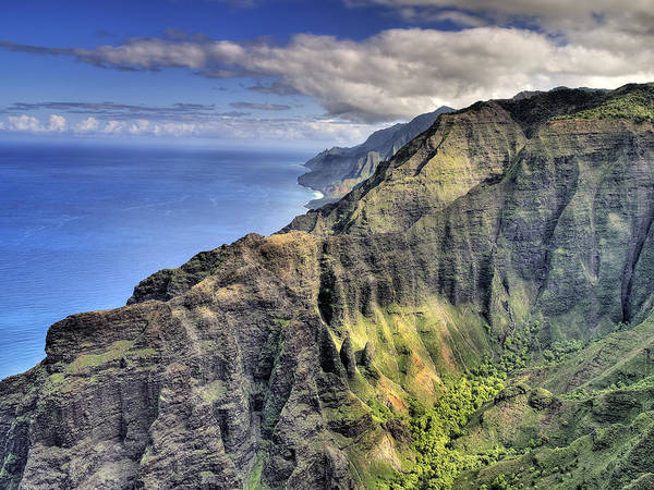 Wall Art - Photograph - View Of The Nualolo Valley - Kauai by Brendan Reals
