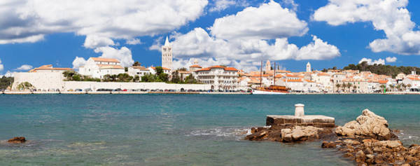 Bell Rock Photograph - View Of The Old Town Of Rab Town by Panoramic Images