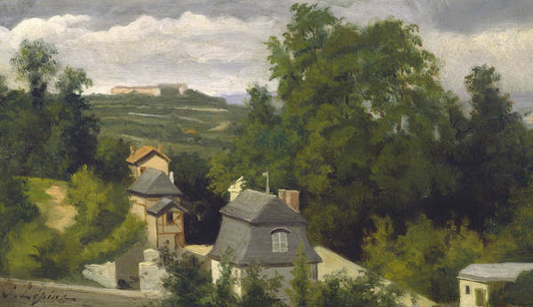 Wall Art - Painting - View Of The Outskirts Of Caen by Stanislas Victor Edouard Lepine