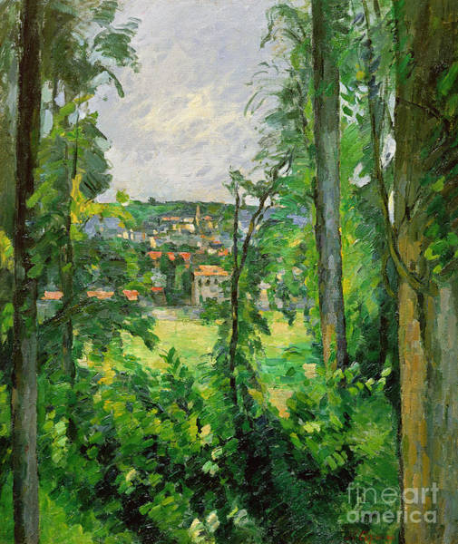 Cezanne Wall Art - Painting - View Of The Outskirts by Paul Cezanne