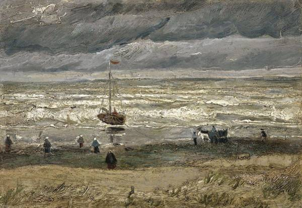 Painting - View Of The Sea At Scheveningen The Hague, August 1882 Vincent Van Gogh 1853  1890 by Artistic Panda