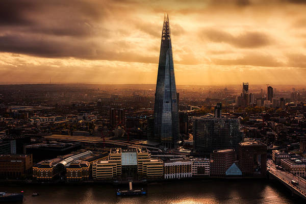 Brasserie Wall Art - Photograph - View Of The Shard by Ian Hufton
