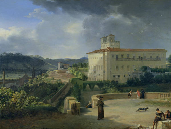 Imposing Wall Art - Painting - View Of The Villa Medici In Rome by Nicolas Antoine Taunay
