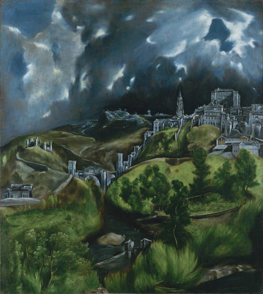 Toledo Painting - View Of Toledo , by MotionAge Designs