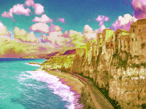 Painting - View Of Tropea Calabria by Dominic Piperata