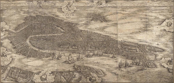 Drawing - View Of Venice by Jacopo de' Barbari