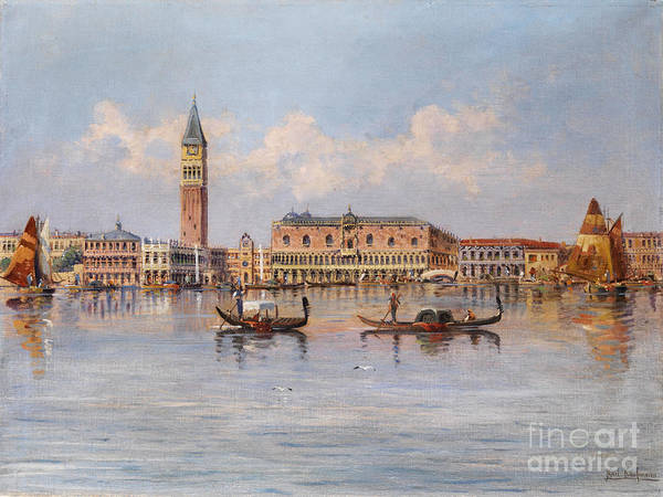 Painting - View Of Venice Palazzo Ducale by Celestial Images