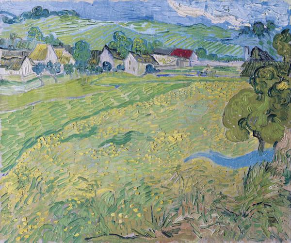 Alpine Meadow Painting - View Of Vessenots Near Auvers, 1890 by Vincent Van Gogh