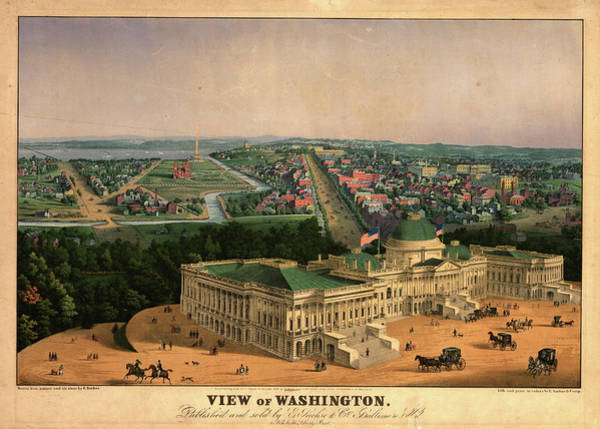 Wall Art - Painting - View Of Washington by Sachse