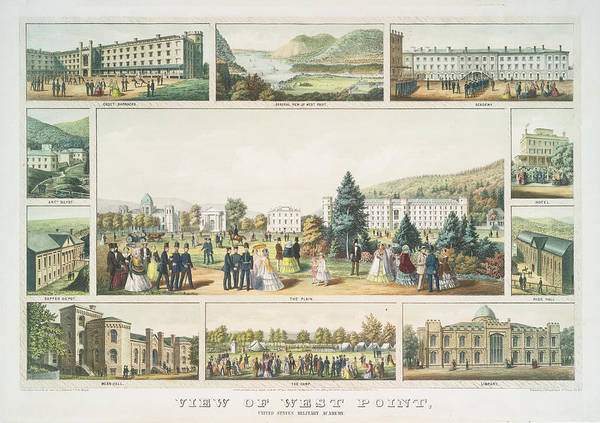 West Point Photograph - View Of West Point United States Military Academy 1857 by Ricky Barnard