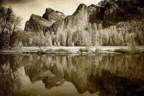 Natural Pool Photograph - View Of Yosemite by American School