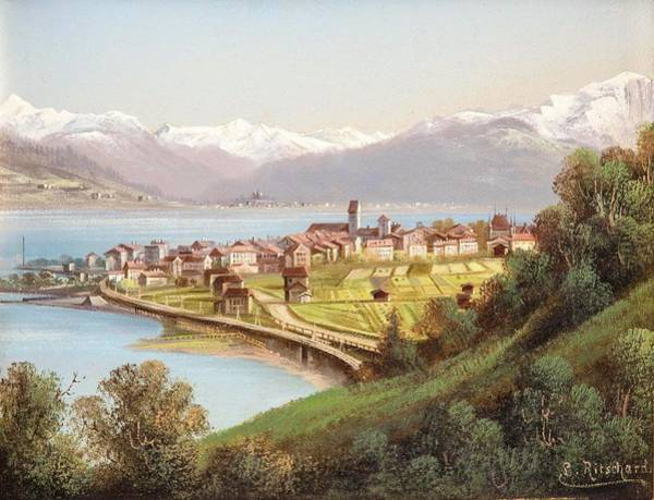 Vienna Painting - view of Zell am See by Hubert Sattler