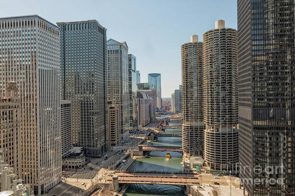 Wall Art - Photograph - View On Chicago Bridges by Patricia Hofmeester