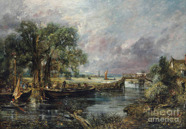 Wall Art - Painting - View On The Stour Near Dedham by John Constable