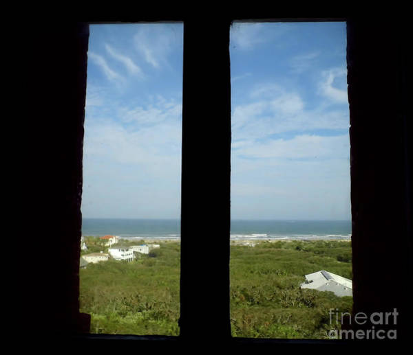 Photograph - View Out The Lighthouse Window by D Hackett