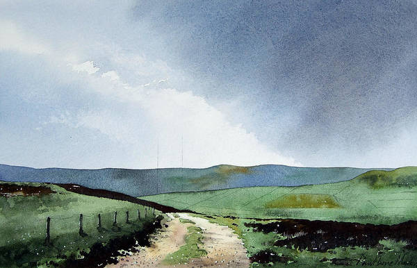 Wall Art - Painting - View Over Pole Moor by Paul Dene Marlor