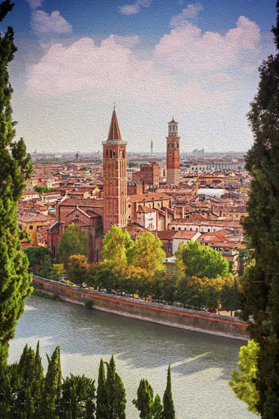 Wall Art - Photograph - View Over Verona From St Peter's Hill  by Carol Japp