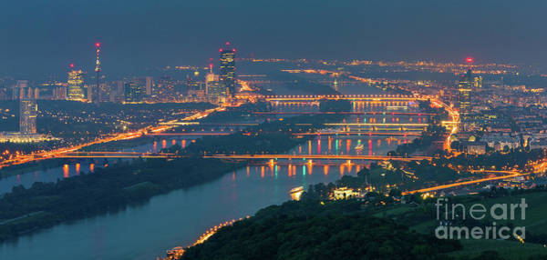 Donau Photograph - View Over Vienna, Austria by Henk Meijer Photography