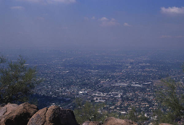Camelback Mountain Photograph - View Overlooking Phoenix, Arizona by Stacy Gold