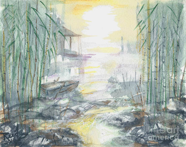 Painting - View Through The Bamboo by Reed Novotny