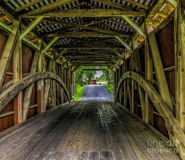 Photograph - View Thru Bucher's Mill Covered Bridge by Nick Zelinsky