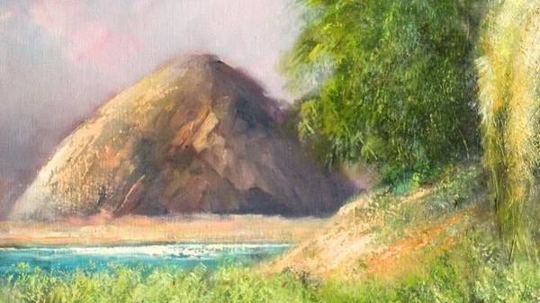Morro Bay Painting - View To Morro Rock by Sally Seago