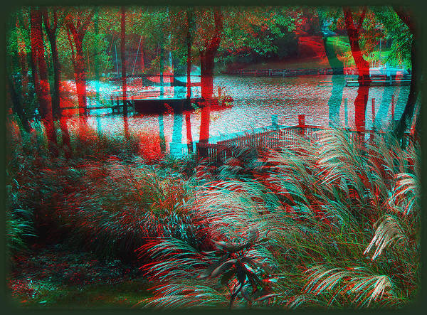 Anaglyph Photograph - View To The Cove - Use Red-cyan 3d Glasses by Brian Wallace