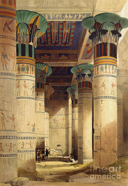 Ancient Egypt Painting - View Under The Grand Portico by David Roberts