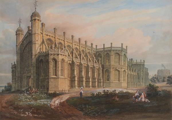 Wall Art - Painting - Views Of St. Georges Chapel by Windsor