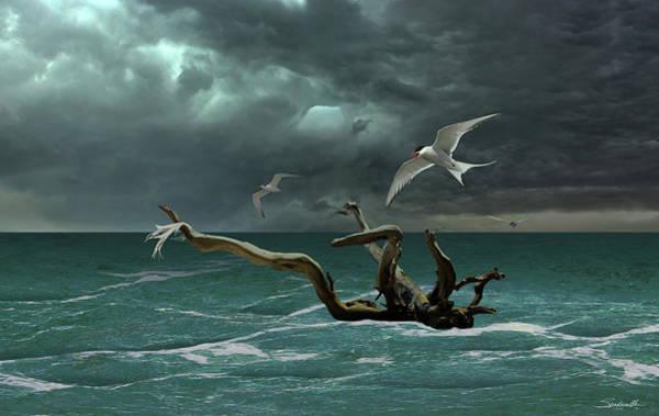 Wall Art - Digital Art - Vigil At Sea by M Spadecaller