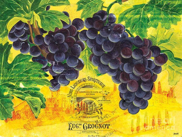 Label Painting - Vigne De Raisins by Debbie DeWitt