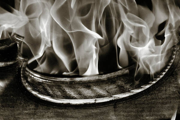 Photograph -  Viiolin And Fire 5415.01 by M K Miller