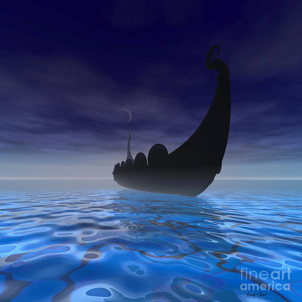 Wall Art - Painting - Viking Ship by Corey Ford