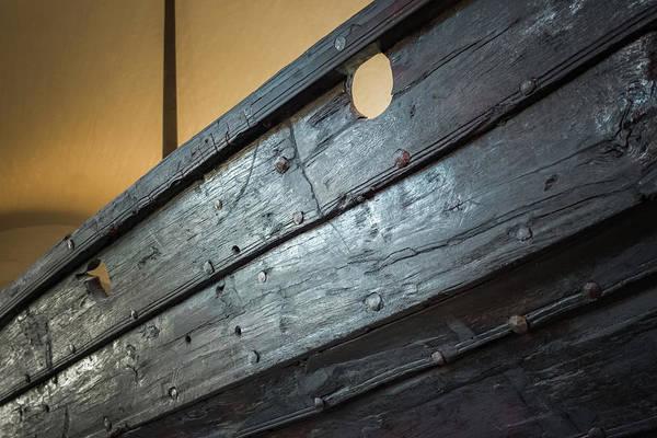 Photograph - Viking Ship Museum Holes Detail by Adam Rainoff